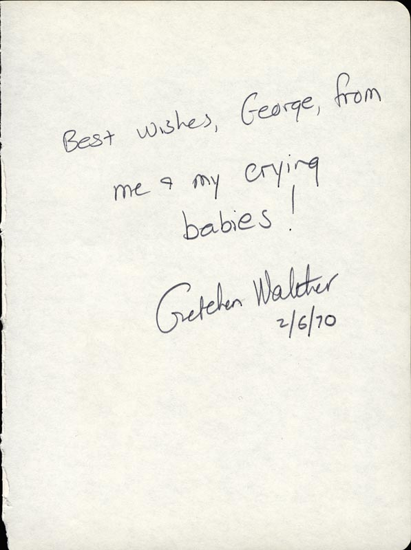 Image 1 for Gretchen Walther - Autograph Note Signed 02/06/1970 - HFSID 26224