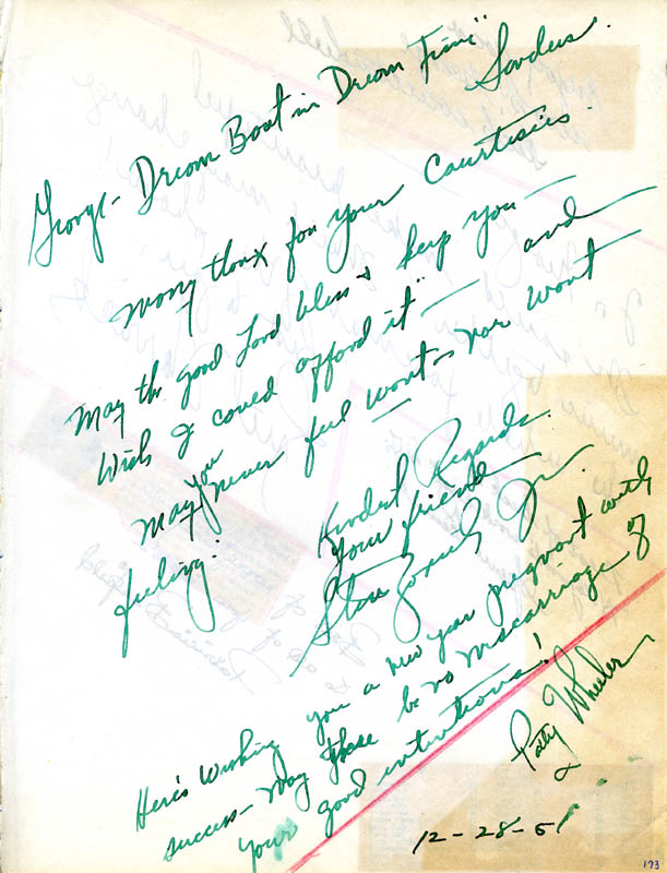 Image 3 for Ruth Warrick - Autograph Note Signed co-signed by: Dick Whittinghill - HFSID 26230