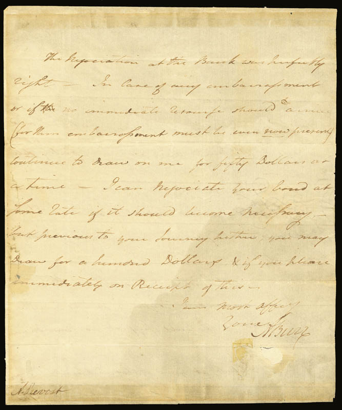 Image 1 for Vice President Aaron Burr - Autograph Letter Signed 12/06/1791 - HFSID 262315