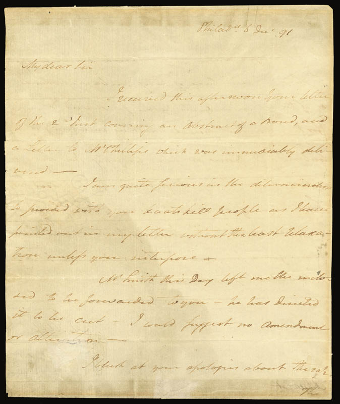 Image 3 for Vice President Aaron Burr - Autograph Letter Signed 12/06/1791 - HFSID 262315