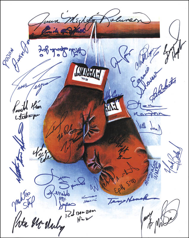 Image 1 for Ken Norton - Autographed Signed Poster with co-signers - HFSID 262329