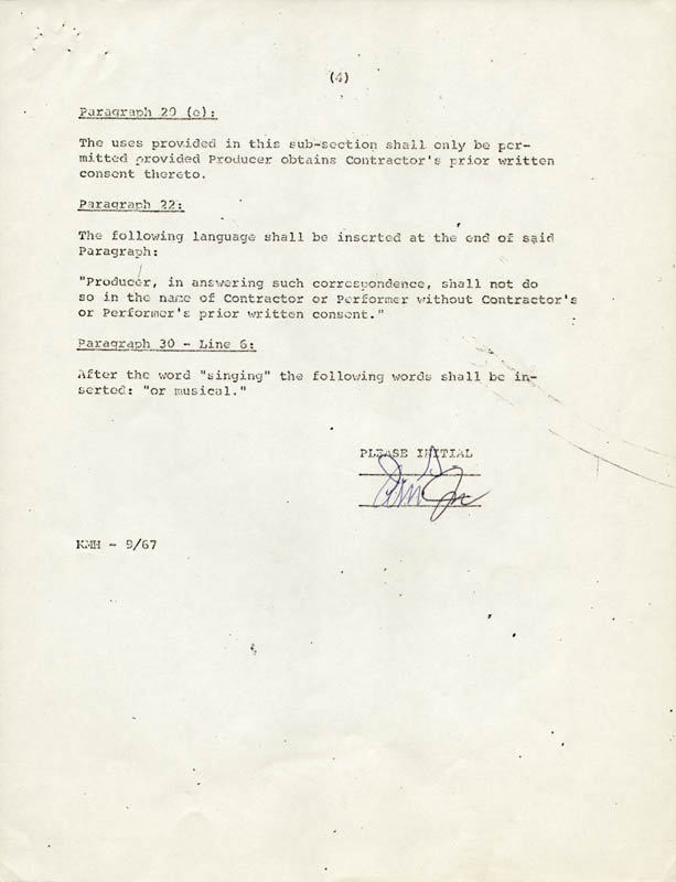 Image 4 for Anne Meara - Contract Multi-signed 09/09/1970 co-signed by: Jerry Stiller - HFSID 262499