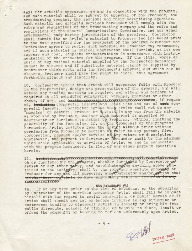 Image 6 for Anne Bancroft - Document Signed 09/27/1960 - HFSID 262577
