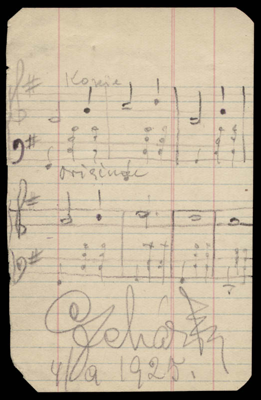 Image 1 for Franz Lehar - Autograph Musical Quotation Signed 04/09/1925 - HFSID 262751