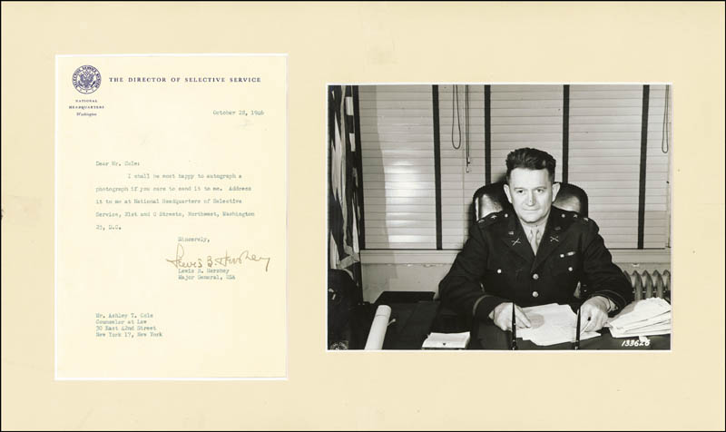 Image 1 for General Lewis B. 'Oldest Soldier' Hershey - Typed Letter Signed 10/28/1946 - HFSID 262835