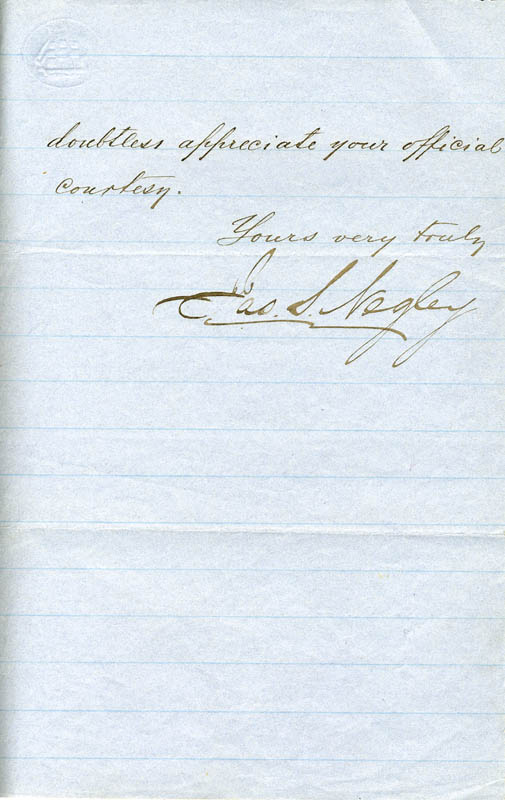 Image 1 for Major General James Scott Negley - Manuscript Letter Signed 06/03/1872 - HFSID 262848