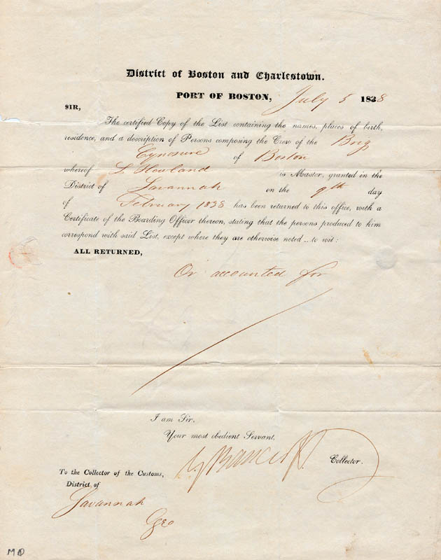Image 1 for George Bancroft - Document Signed 07/05/1838 - HFSID 262853
