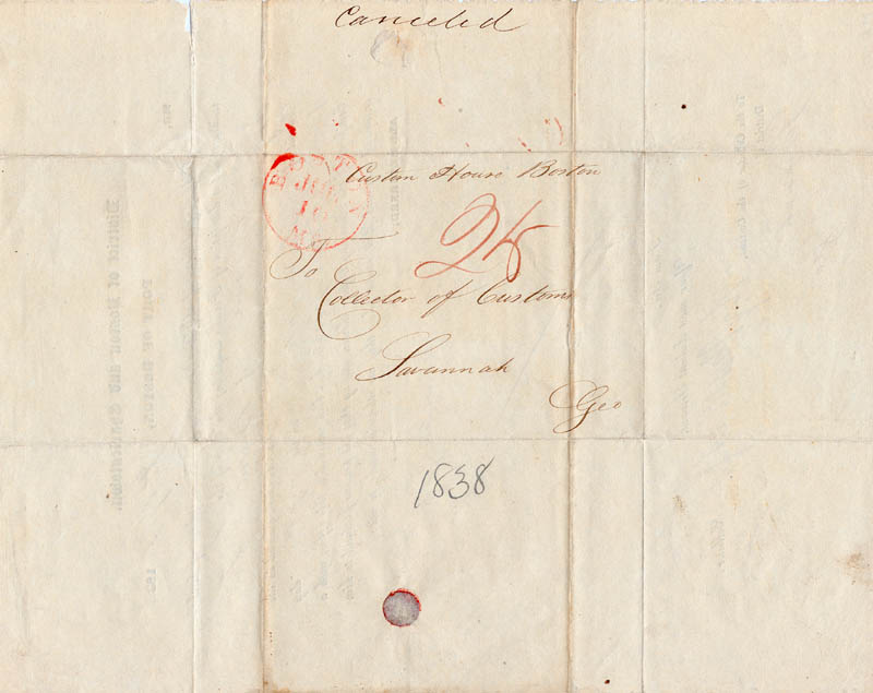 Image 3 for George Bancroft - Document Signed 07/05/1838 - HFSID 262853
