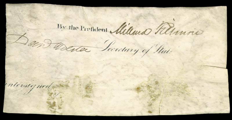 Image 1 for President Millard Fillmore - Autograph co-signed by: Daniel Webster - HFSID 262886