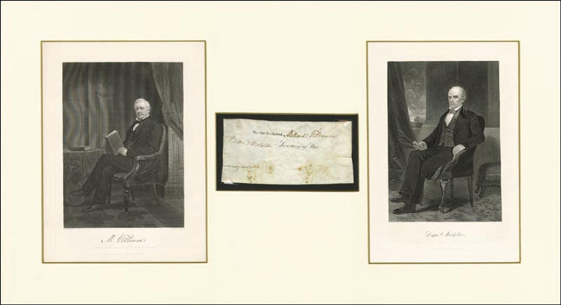 Image 3 for President Millard Fillmore - Autograph co-signed by: Daniel Webster - HFSID 262886