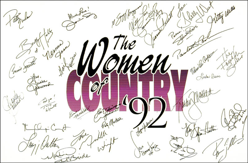 Image 1 for Patty Loveless - Autographed Signed Poster with co-signers - HFSID 262896