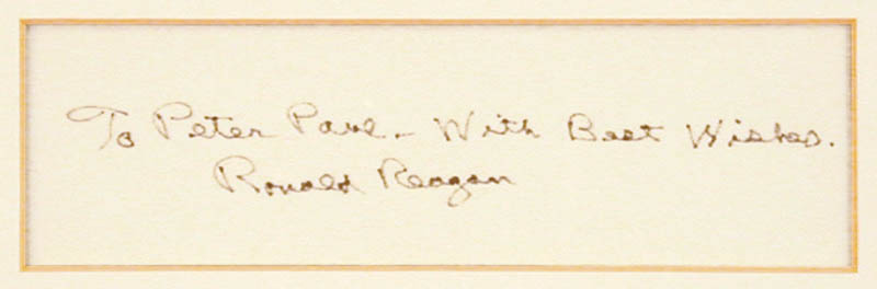 Image 3 for President Ronald Reagan - Inscribed Signature - HFSID 262897