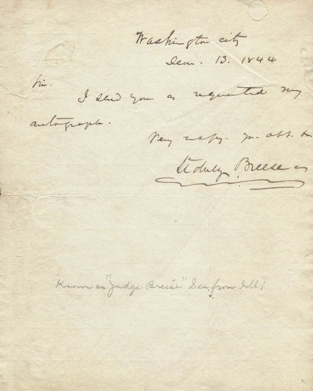 Image 1 for Sidney Breese - Autograph Letter Signed 06/13/1844 - HFSID 262922