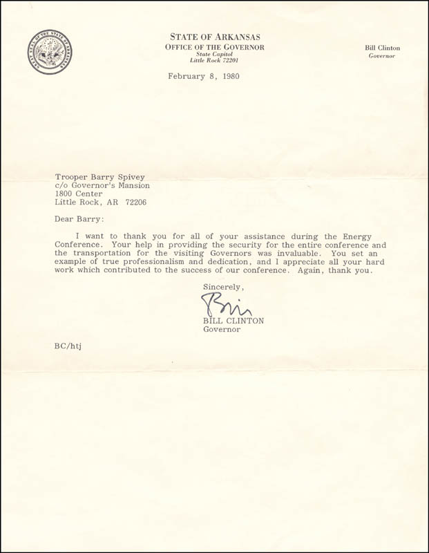 Image 1 for President William J. 'Bill' Clinton - Typed Letter Signed 02/08/1980 - HFSID 263057