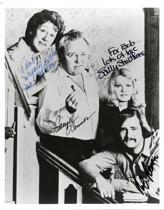 Image 1 for All In The Family TV Cast - Autographed Inscribed Photograph co-signed by: Carroll O'Connor, Rob Reiner, Jean Stapleton, Sally Struthers - HFSID 263076