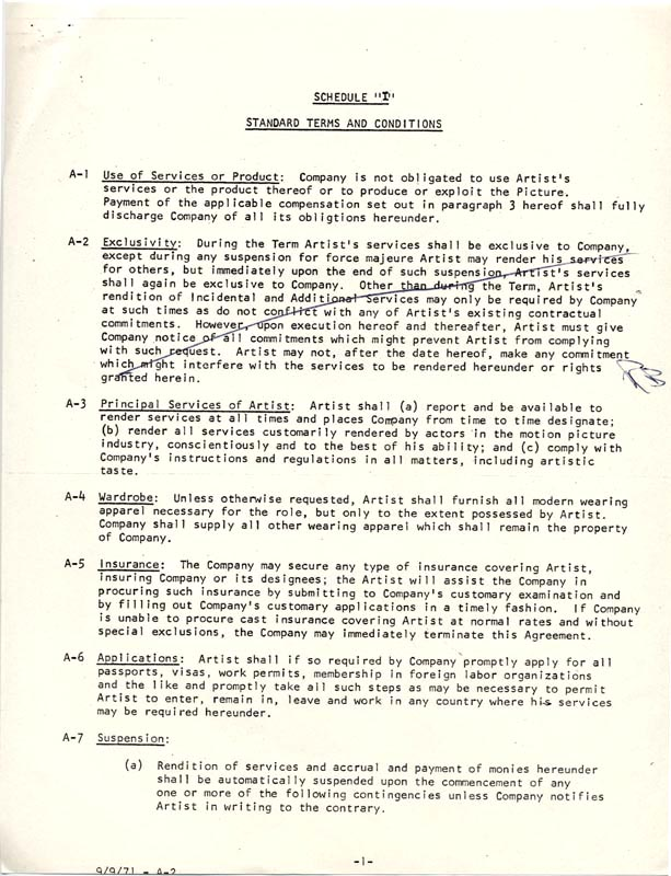Image 3 for Red Buttons - Document Multi-signed 08/01/1977 - HFSID 263085