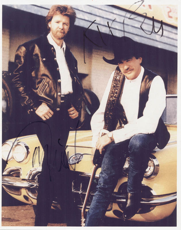 Image 1 for Brooks And Dunn - Autographed Signed Photograph co-signed by: Brooks And Dunn (Kix Brooks), Brooks And Dunn (Ronnie Dunn) - HFSID 263184