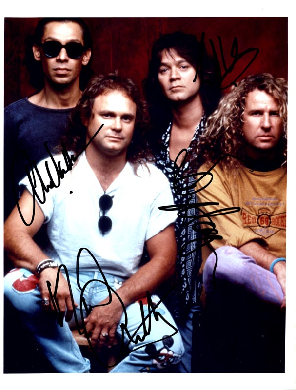 Image 1 for Van Halen - Autographed Signed Photograph with co-signers - HFSID 263195