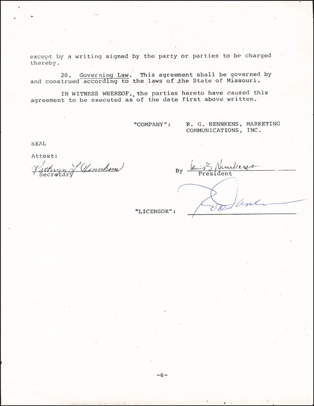 Image 1 for Rod Carew - Document Signed 01/01/1978 - HFSID 263197