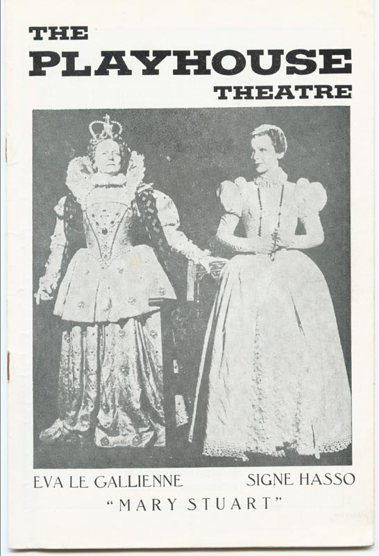 Image 3 for Mary Stuart Play Cast - Program Signed 1960 co-signed by: Staats Cotsworth, Bruno Gerussi, Eva Le Gallienne, Signe Hasso, David C. Jones - HFSID 26324