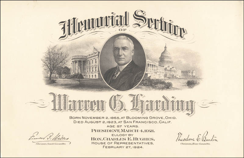 Image 1 for President Warren G. Harding - Collection - HFSID 263284