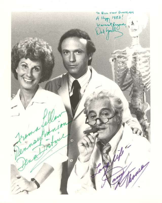 Image 1 for Practice TV Cast - Autographed Signed Photograph 1983 co-signed by: Dena Dietrich, David Spielberg, Danny Thomas - HFSID 26346