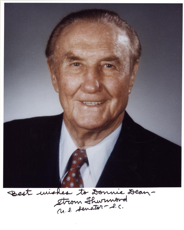 Image 1 for Strom Thurmond - Autographed Signed Photograph - HFSID 263493