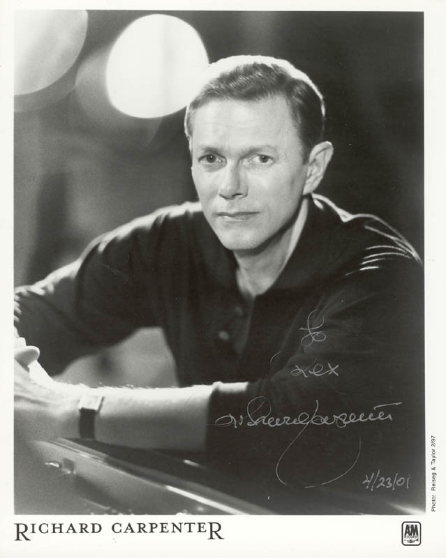 Image 1 for Richard Carpenter - Autographed Inscribed Photograph 04/23/2001 - HFSID 263533