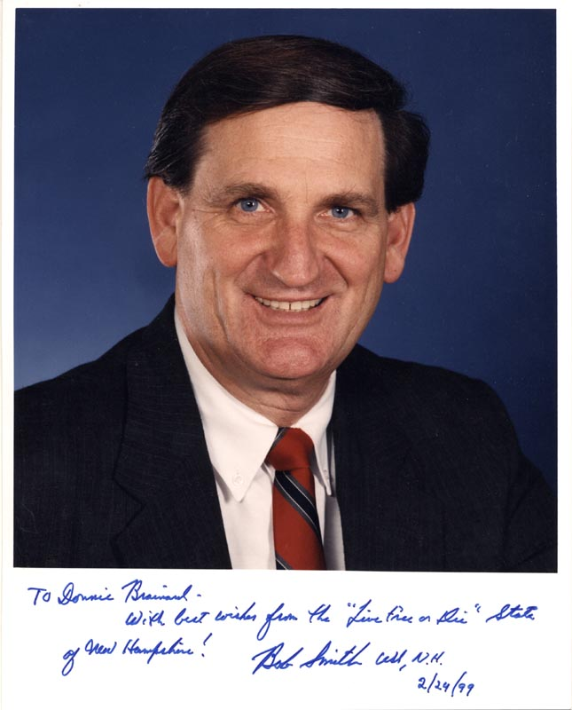 Image 1 for Bob Smith (Politician) - Autographed Inscribed Photograph 02/24/1999 - HFSID 263535