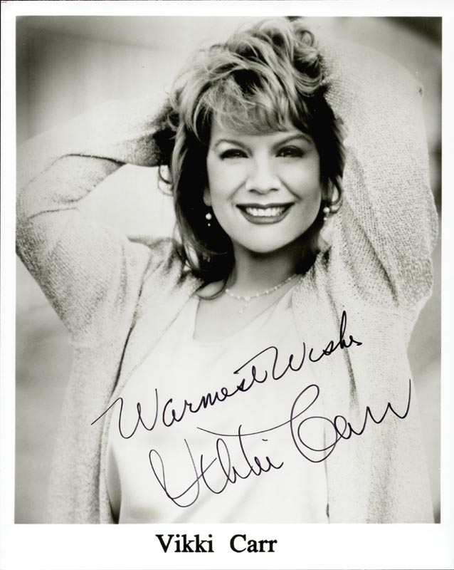 Image 1 for Vikki Carr - Autographed Signed Photograph - HFSID 263546