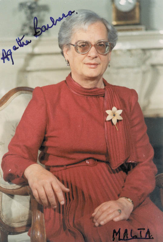 Image 1 for President Agatha Barbara (Malta) - Autographed Signed Photograph - HFSID 263607