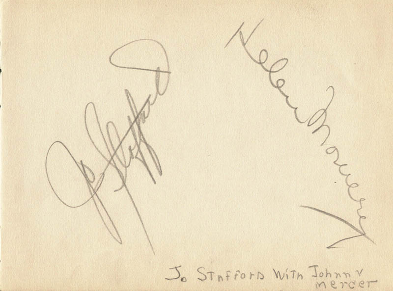 Image 1 for Jo Stafford - Autograph co-signed by: June Hutton - HFSID 263733