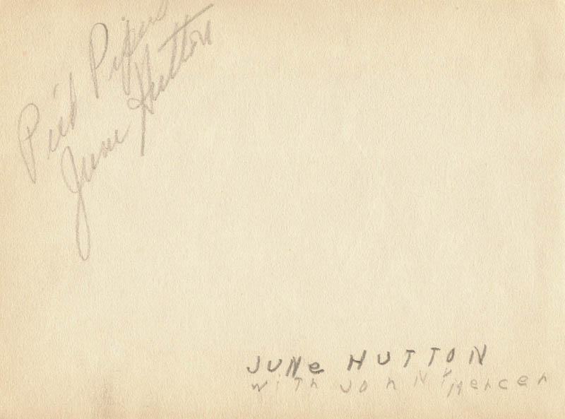 Image 3 for Jo Stafford - Autograph co-signed by: June Hutton - HFSID 263733