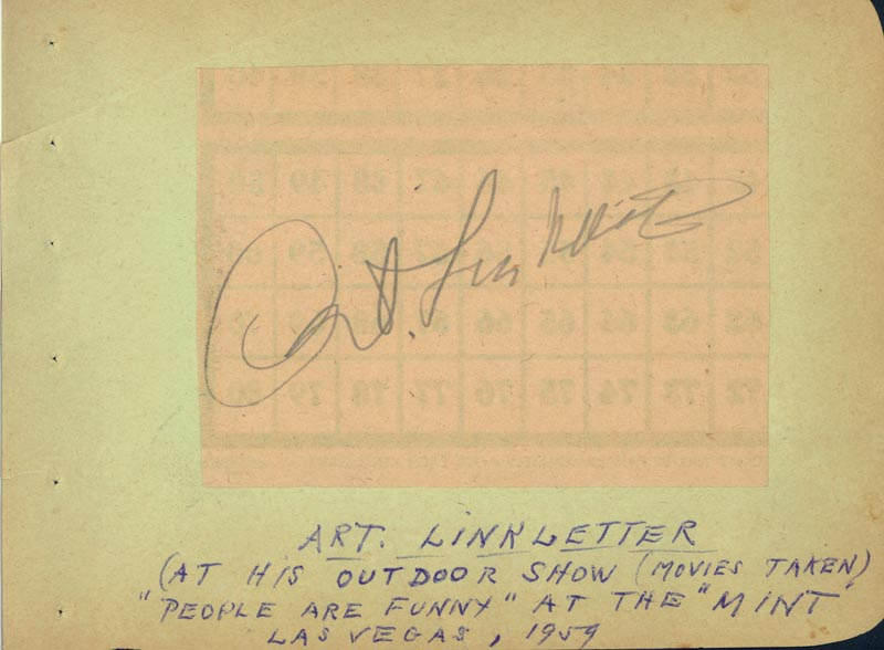 Image 3 for Mickey Hargitay - Autograph Circa 1959 co-signed by: Art Linkletter - HFSID 263736