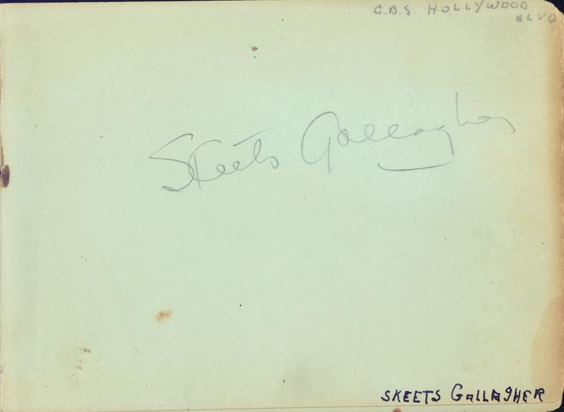 Image 1 for Richard 'Skeets' Gallagher - Autograph co-signed by: Wendy Barrie, George E. Stone, Rufe Davis - HFSID 263738