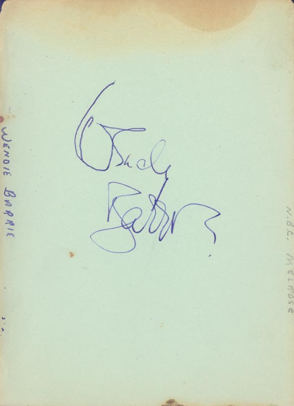 Image 3 for Richard 'Skeets' Gallagher - Autograph co-signed by: Wendy Barrie, George E. Stone, Rufe Davis - HFSID 263738