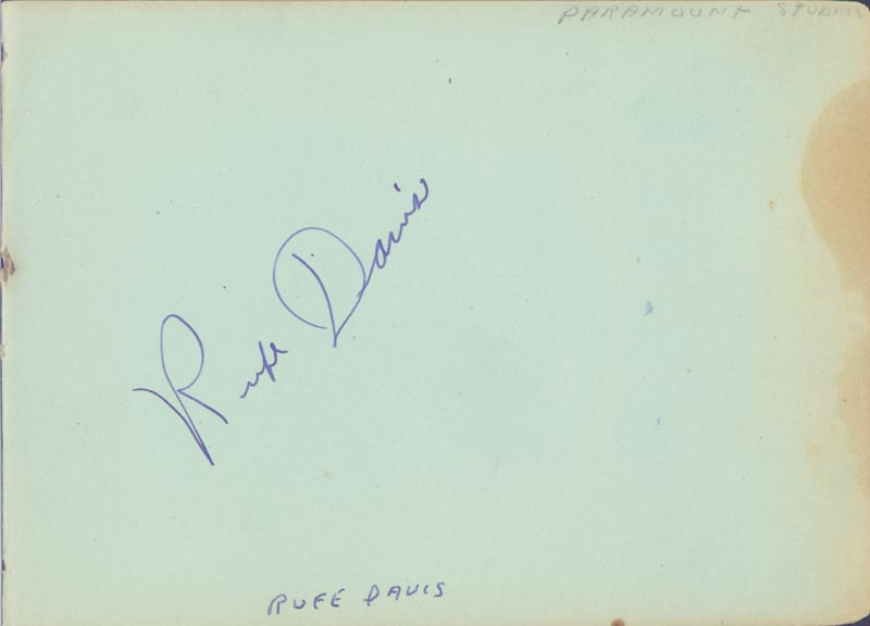 Image 5 for Richard 'Skeets' Gallagher - Autograph co-signed by: Wendy Barrie, George E. Stone, Rufe Davis - HFSID 263738