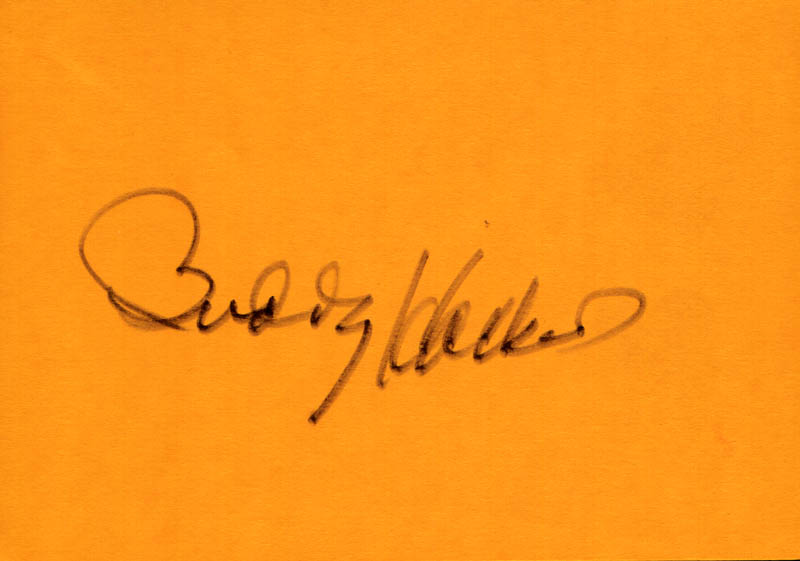 Image 1 for Buddy Hackett - Autograph - HFSID 263855