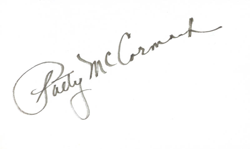 Image 1 for Patricia Mccormack - Autograph - HFSID 263928
