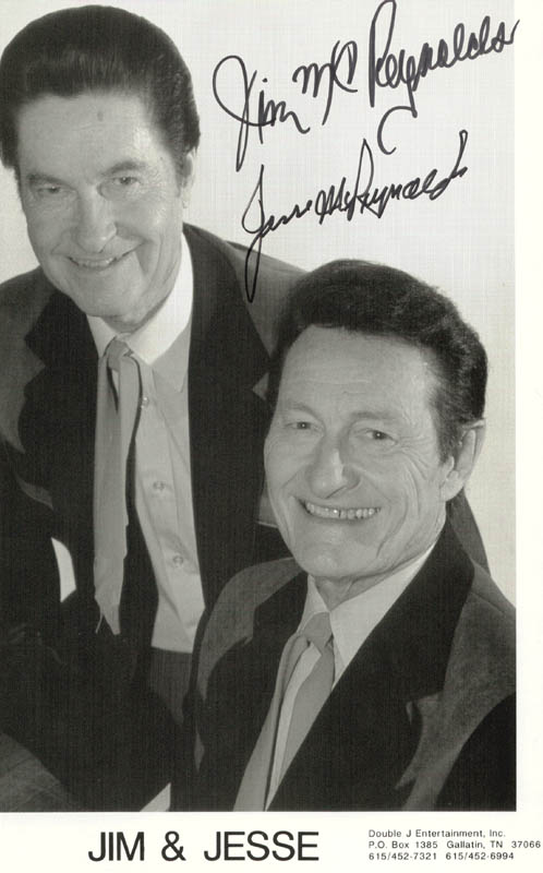 Image 1 for Jim & Jesse - Autographed Signed Photograph co-signed by: Jim & Jesse (Jim Mc Reynolds), Jim & Jesse (Jesse Mc Reynolds) - HFSID 264069
