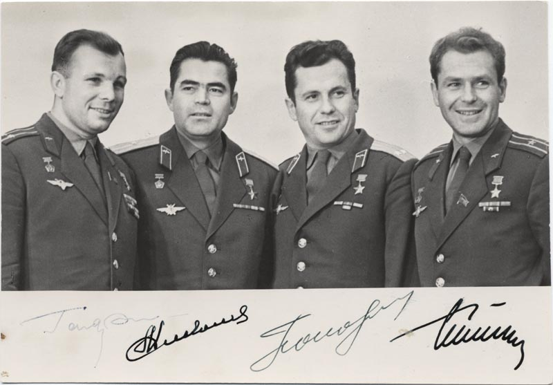 Image 1 for Colonel Yuri Gagarin - Autographed Signed Photograph with co-signers - HFSID 264344