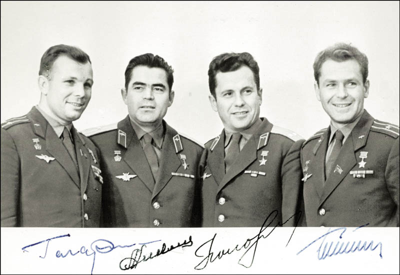 Image 1 for Colonel Yuri Gagarin - Autographed Signed Photograph with co-signers - HFSID 264351