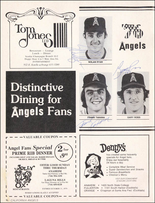 Image 3 for The California Angels - Program Signed Circa 1976 with co-signers - HFSID 264410