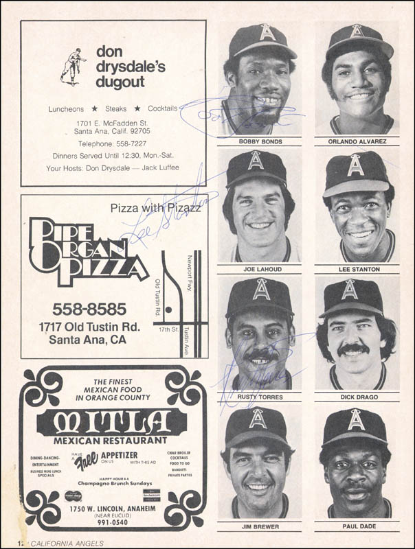 Image 5 for The California Angels - Program Signed Circa 1976 with co-signers - HFSID 264410