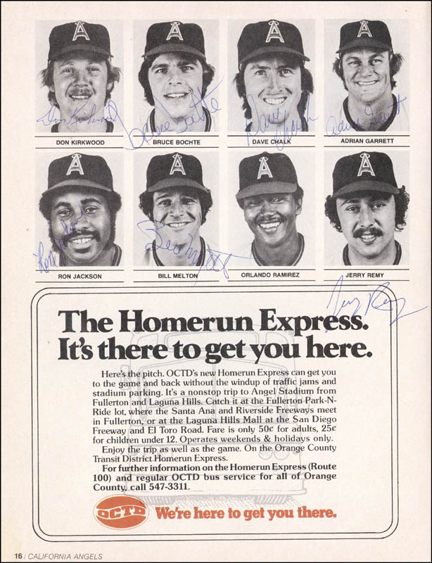 Image 6 for The California Angels - Program Signed Circa 1976 with co-signers - HFSID 264410