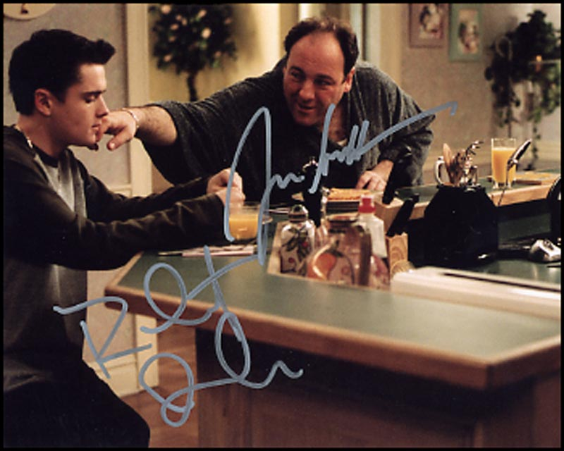 Image 1 for The Sopranos TV Cast - Autographed Signed Photograph co-signed by: James Gandolfini, Robert Iler - HFSID 264547