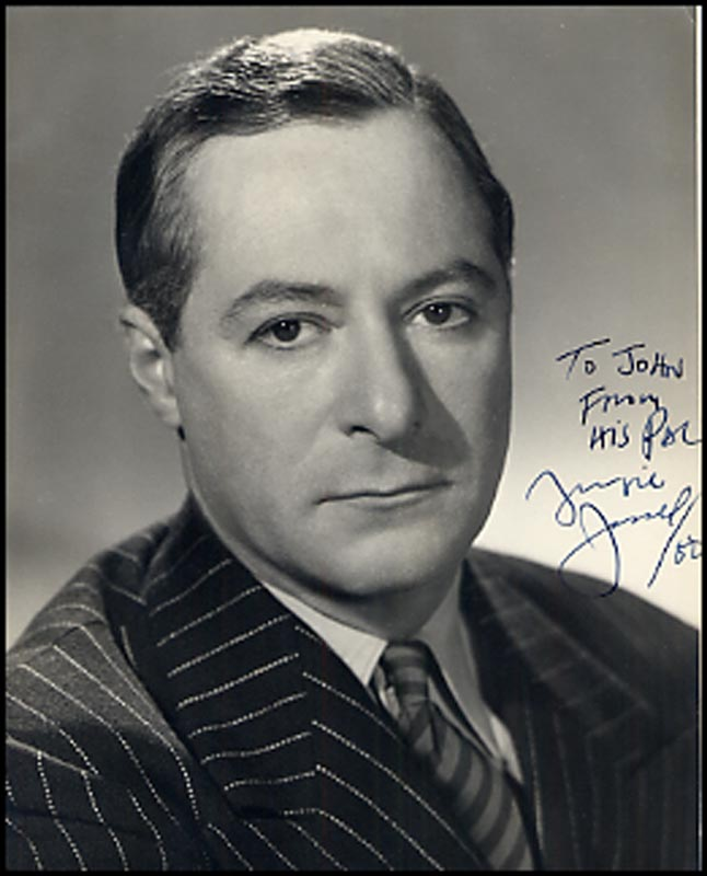 Image 1 for George Jessel - Autographed Inscribed Photograph 1950 - HFSID 264600