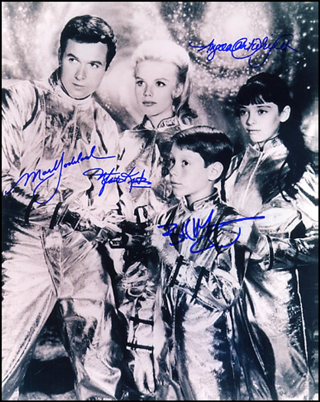 Image 1 for Lost In Space TV Cast - Autographed Signed Photograph co-signed by: Billy Mumy, Mark Goddard, Angela Cartwright, Marta Kristen - HFSID 264629