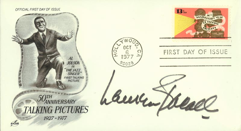 Image 1 for Lauren Bacall - First Day Cover Signed - HFSID 264740