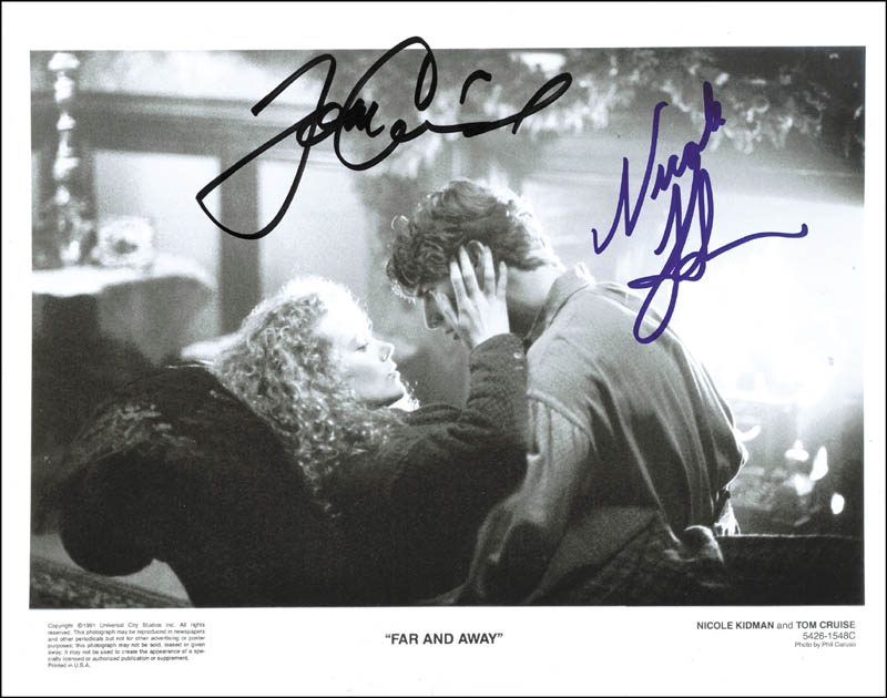 Image 1 for Far And Away Movie Cast - Autographed Signed Photograph Circa 1991 co-signed by: Tom Cruise, Nicole Kidman - HFSID 264930
